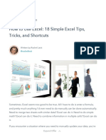 How to Use Excel_ 18 Simple Excel Tips, Tricks, And Shortcuts