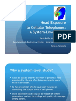 Head exposure to cellular phones