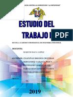 INFORME ESTUDIO DEL TRABAJO