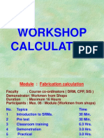 Fabrication Calculation