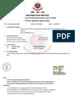 F I R REPORT
