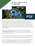 SAP Fiori Tutorial. Part I. System Check, Installation and Configuration