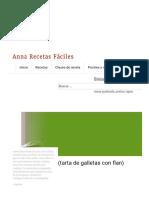 Tarta de La Abuela (Tarta de Galletas Con Flan) - Anna Recetas Fáciles