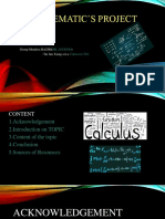 Mathematic's form 1 project