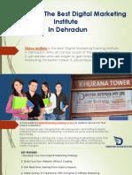 Best Digital Marketing Institute in Dehradun