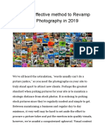 The Most Effective Method to Revamp Your Site's Photography in 2019