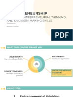2 - Entrepreneurial Thinking and Decision Making Process