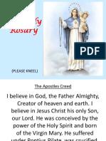 The Holy Rosary Sorrowful Mystery