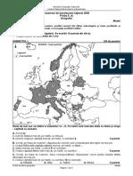 BAC 2020 Geografie Model subiect