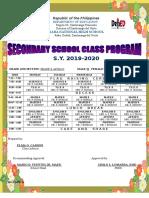 Class program format