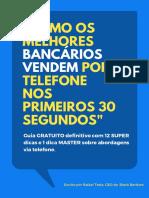 E-book - Como Vender No Banco Por Telefone Nos Primeiros 30 Segundos