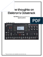 Some Thoughts on Elektron's Octatrack by Merlin (Edited by Thermo)