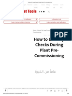 How to Do Loop Checks During Plant Pre-Commissioning