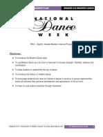 Ndw Grades 5 8 Modern Dance Lesson Plans1