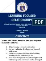 Final Learning Relationships