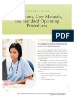 Chapter 13 Instruction and User Manuals with SOPs