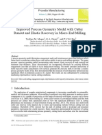 Improved Process Geometry Model with Cutter Runout and Elastic Recovery in Micro-End Milling