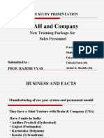B2B Case Study of Sales personnel