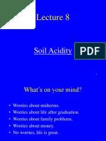 Soil acidity