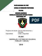 Sillabus Abordaje a Victima de Violencia Familiar y Sexual QUINTO SEMESTRE
