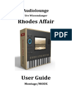 Rhodes Affair Yamaha Edition User Guide Montage