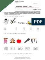 Evaluación primero basico de Lenguaje (TEA)