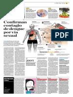 Confirman Contagio de Dengue Por Vía Sexual