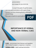 Importance of Verbal and Non-Verbal Cues