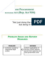RA 9184 Procurement Reforms