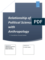 Relationship of Political Science With Anthropology