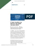 ISO 9001 2015 - O que mudou?