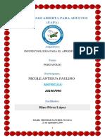 Portafolio Infotecnologia Para El Aprendizaje Nicole Antigua Paulino