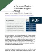 2.Revenue Engine Maturity Model