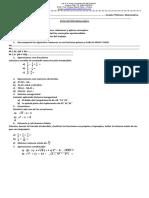Evaluaciònes de matemáticas 6  y 7 