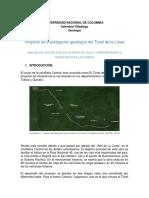 Proyecto de Investigación Túnel de La Linea FINAL