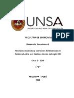 Resumen desarrollo economico