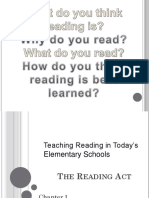 English Language Arts - Teaching Reading in Elementary School