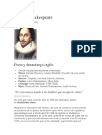 biografía de willian Shakespeare
