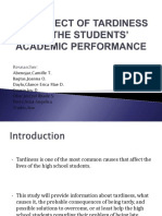 The Effect of Tardiness on the Students'