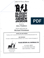 Bloody, Bloody Andrew Jackson (MTI) - Libretto + Vocal Book