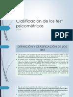 Clasificación de Los Test Psicométricos