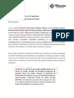 Síndico y 10 regidores de Tehuacán enviaron la petición al Congreso para revocar el mandato de Patjane; lo acusan de usurpación de funciones, ingobernabilidad y desvío de recursos