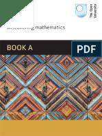 MU123 - Discovering Mathematics Book a Units 1-4