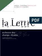 Lettre Infos Mahler