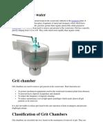 Grit in Waste Water