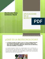 Aplicaciones de La Biotecnologia