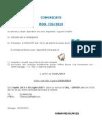 1 Comunicato Assocaaf 2019 Milano
