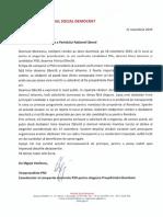 Solicitarea prin care PSD invită PNL la dezbatere, înainte de turul doi
