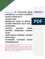 301M Emigración Ilegal de México a Los Estados Unidos