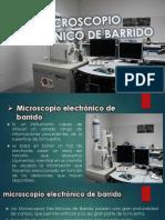 Microscopio Elect de Barrido